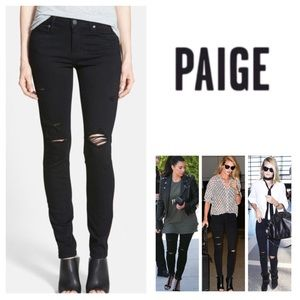 Anthropologie Paige Destructed Skinny Jeans.  NWT.